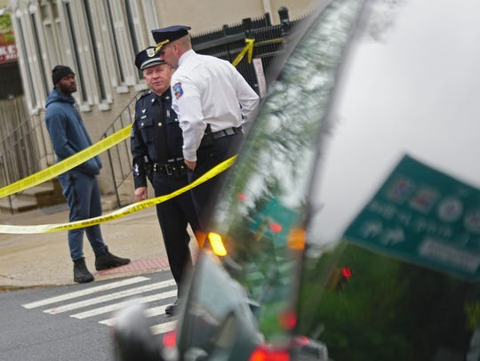 Wilmington Police investigate the scene of shooting