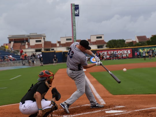 The Jackson Generals' Kevin Cron, the top home run