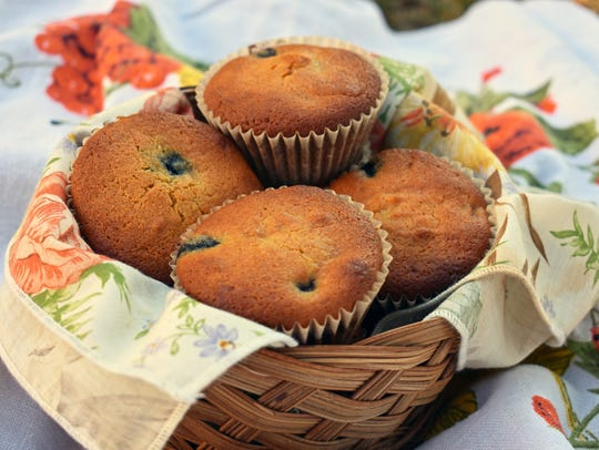 Blueberry muffins made with almond flour are gluten-free
