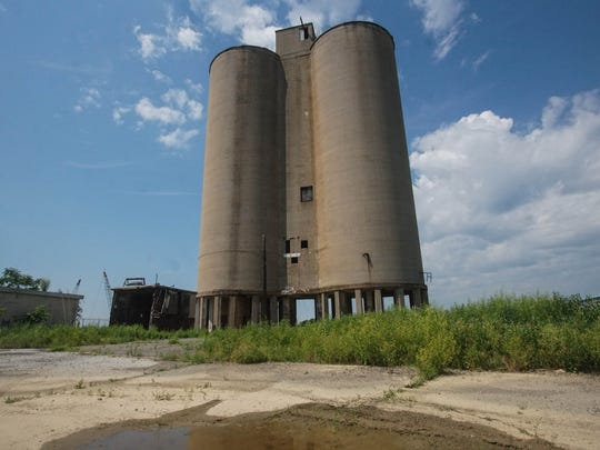 The old silos on the grounds of the former General