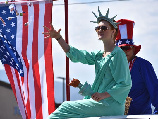 The Statute of Liberty, sitting on top of the Saint