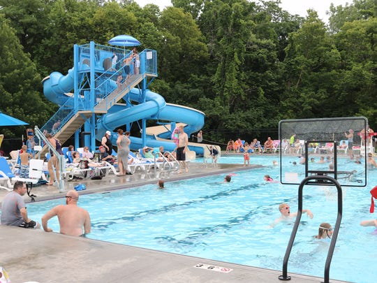 Lakeside Chautauqua's new 6,000-square-foot pool, part of its new wellness campus, includes two slides, basketball hoops, an ADA lift chair, shallow entry area and much more.