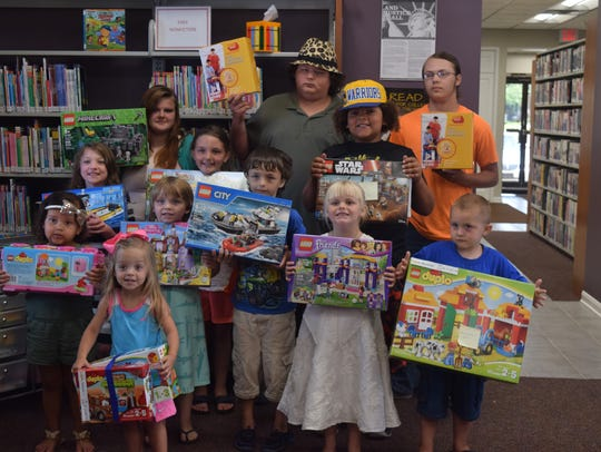 The winners of Lego sets in Uniontown are pictured