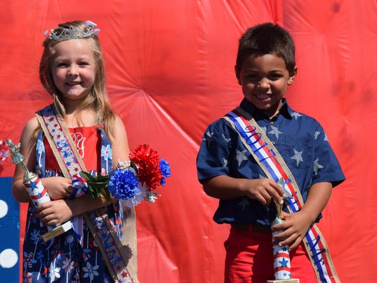 Isabella Graham, left, and Keegan Long were crowned