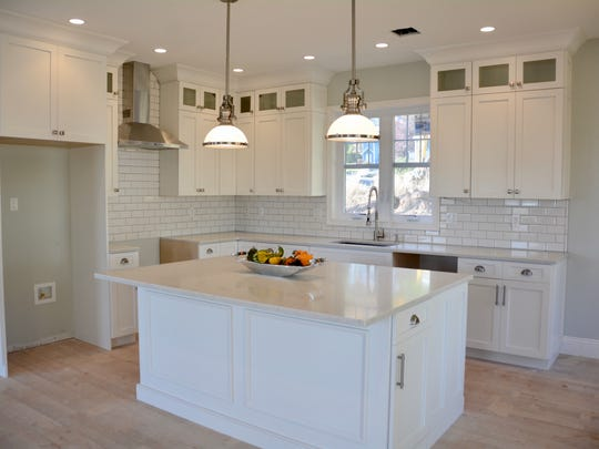Kitchen in a custom built Nyack home in The Reserve