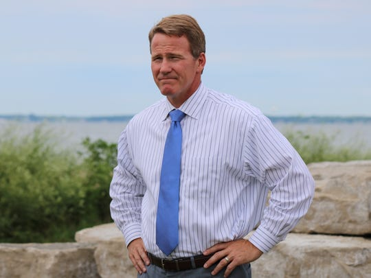 Jon Husted, Ohio Secretary of State, visited Port Clinton in July 2017.