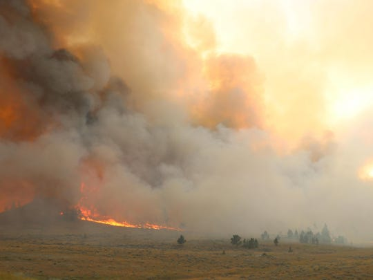 The Lodgepole Fire Complex has burned approximately