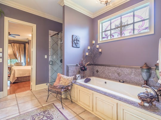 The large master bath is luxurious and relaxing.