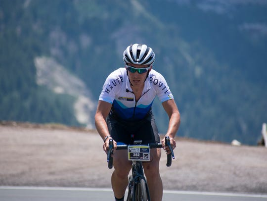 Matthew Busche, of Brevard, competes in the Haute Route