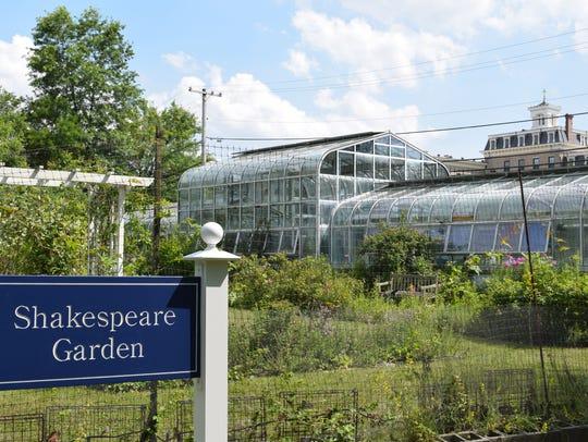 Volunteers are helping to restore the Shakespeare Garden