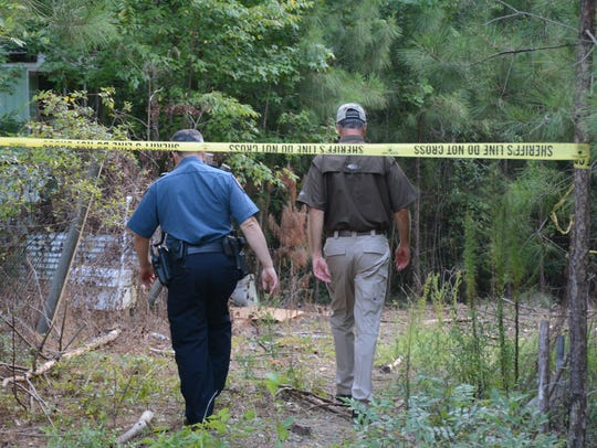 Bossier Parish Sheriff's Office conducts a search for