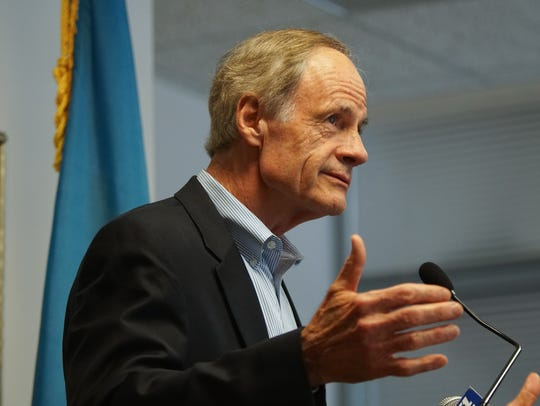 Sen. Tom Carper spoke out against the EPA's decision Friday, saying the denial showed that the agency did not care about its mission to protect the needs of states and those living within them.