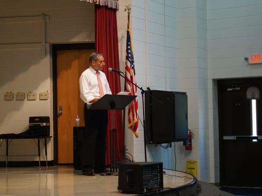 Buncombe County GOP Chairman Carl Mumpower debates
