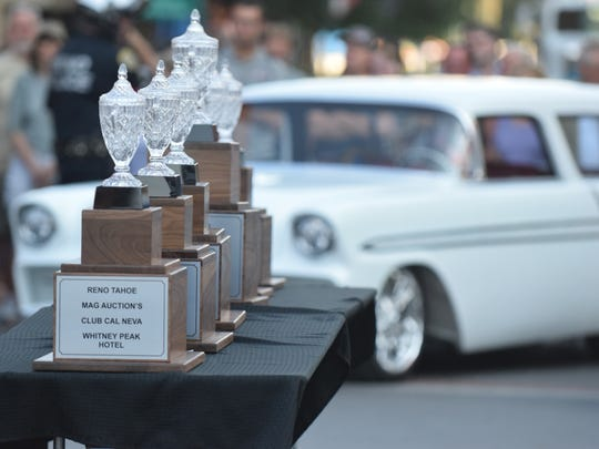 Trophy's for the top-10 cars entered into the 2017 Hot August Nights Cup.