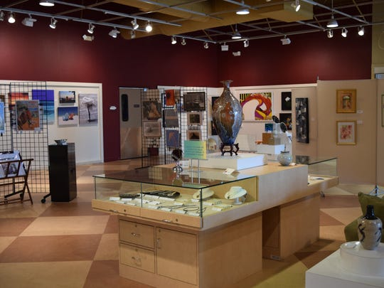 Pieces of art of different mediums are on display in the ACSWF gallery.