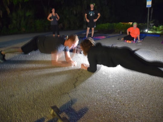 The boot camp workouts at Koreshan Historic Site in