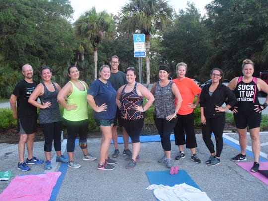 On a recent morning nine people worked out with trainer