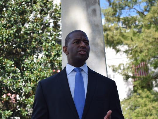 Mayor Andrew Gillum calls for the removal of Confederate