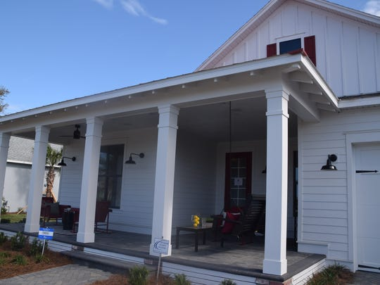 Most of the homes in Babcock Ranch have front porches.