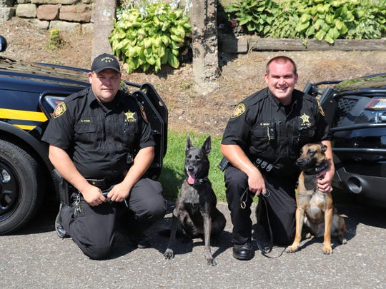 The Coshocton County Sheriff's Office has two K-9 Units. They partners are Det. Dave Stone with Henata and Deputy Steve Mox with Chili. The units can do drug detection, evidence searches and people tracking.