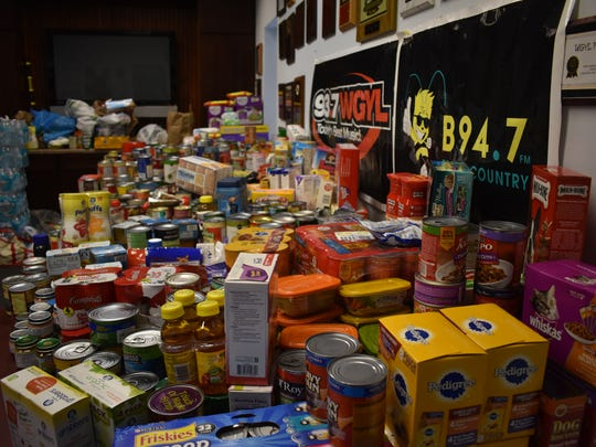 Thousands of pounds of donations were collected at