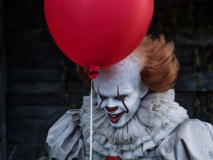 "Bill Skarsgard as Pennywise in ""It."""