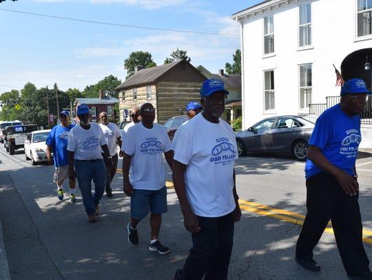Members of the GUOOF Washington Lodge #1513 walked