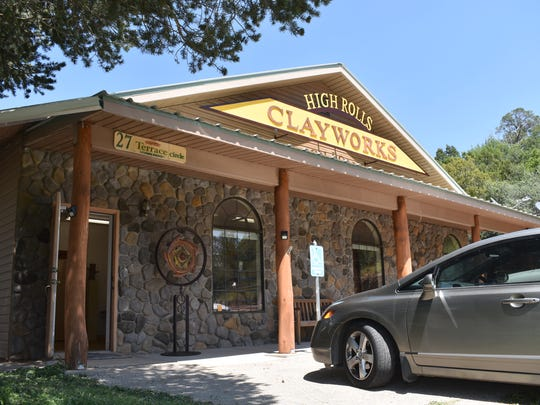 High Rolls Clayworks is open 10 a.m. to 5 p.m. Monday