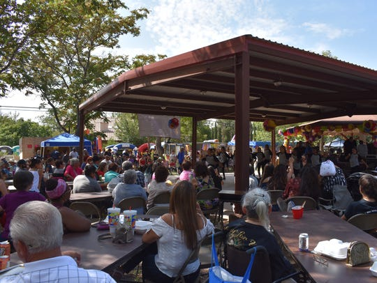 An estimated 300 people attended Fiesta de La Luz Saturday.