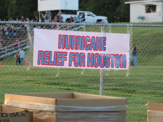 The relief efforts lasted from 4-8 in the lower lot