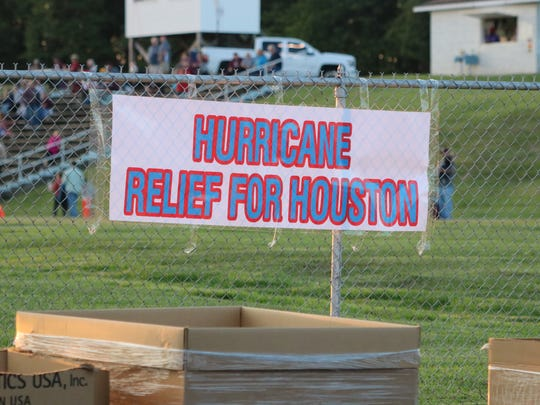 The relief efforts lasted from 4-8 in the lower lot at UCHS.
