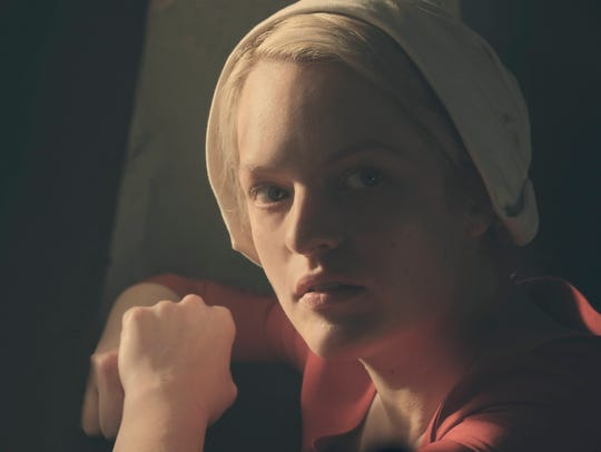 Elisabeth Moss as Offred on 'The Handmaid's Tale.'