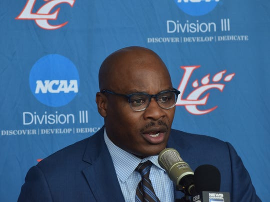 """""""We now get to showcase our basketball here on this side of the river,"""" said Reni Mason, Louisiana College men's basketball coach and athletic director, at a press conference Thursday announcing that men's and women's basketball games for the 2017-18 season will be played at the Rapides Parish Coliseum. """"We are Central Louisiana basketball also."""""""