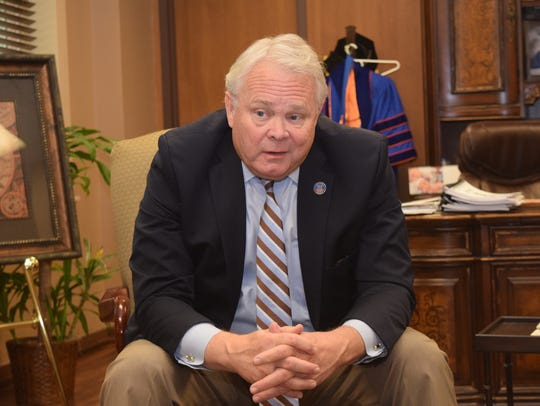 Rick Brewer has been president of Louisiana College in Pineville since 2015.
