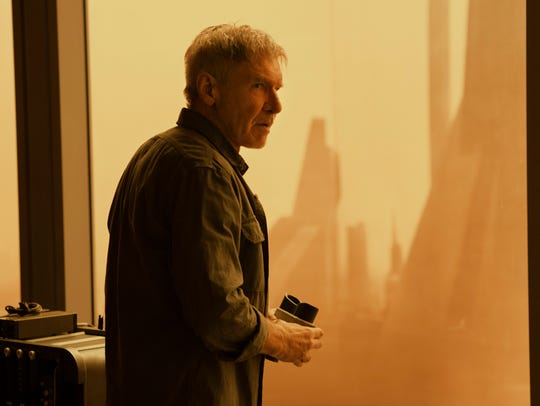 Harrison Ford as retired replicant hunter Rick Deckard,