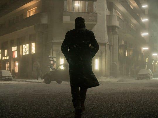 Officer K (Ryan Gosling) walks in the Los Angeles snow in 'Blade Runner 2049.'