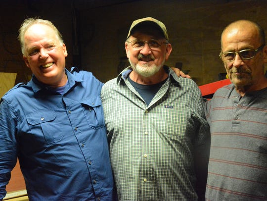 Mark Howard, from left, Dwain Easley and Marc B Frank