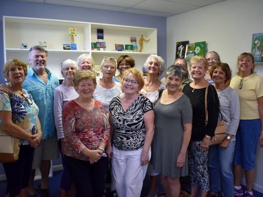Sebastian River Art Club members celebrate the 80th