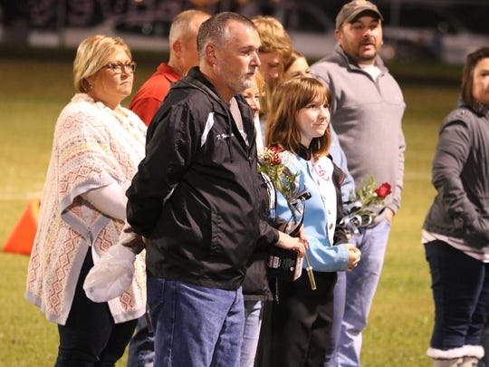Riley Hardacre is recognized for her dedication to the Band of Braves.