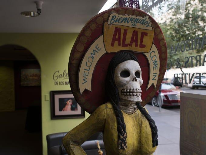 Arts and crafts displayed at the Arizona Latino Arts