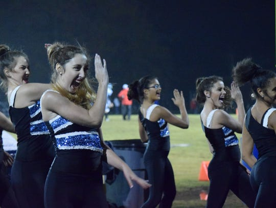 Members of the UCHS dance team perform Friday night.