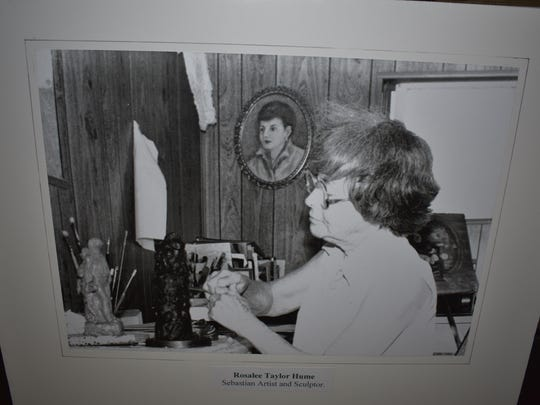 Founder of the SRAC, Rosalee Taylor Hume, working on one of her many sculptures.