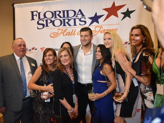 Tim Tebow was the man of the hour and the event at the 2017 Florida Sports Hall of Fame Enshrinement banquet at the Marriott Sawgrass Convention Center on Ponte Vedra Beach.
