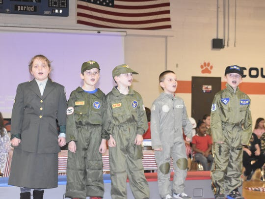 West Cheatham Elementary School second-graders perform Thank You Veterans tribute on Thursday, Nov. 9.