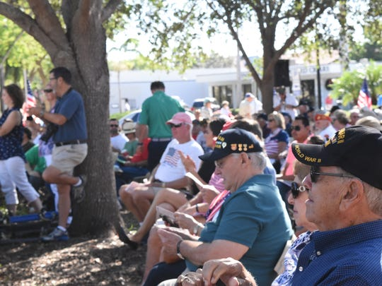 Local U.S. veterans enjoy the Veterans Day Ceremony