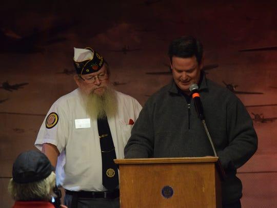 John Folsom, past American Legion Commander (left)