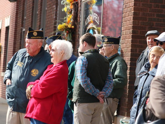 A crowd of veterans and community members braved the cold weather Saturday morning to honor veterans at the courthouse.