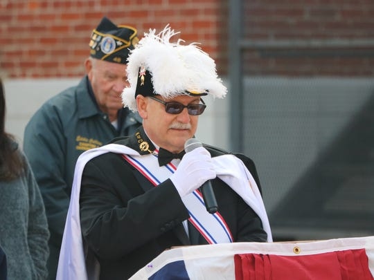 Paul Monsour, 4th Degree of the Knights of Columbus, thanks all the veterans for their service.