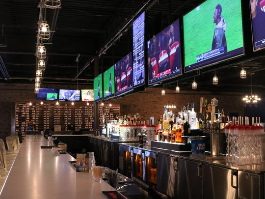 Side view of the bar