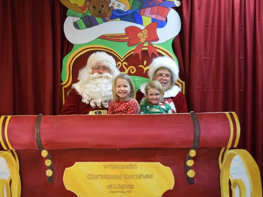 Kids can visit with Santa and Mrs. Claus on selected days at the Wisconsin Christmas Carnival of Lights.